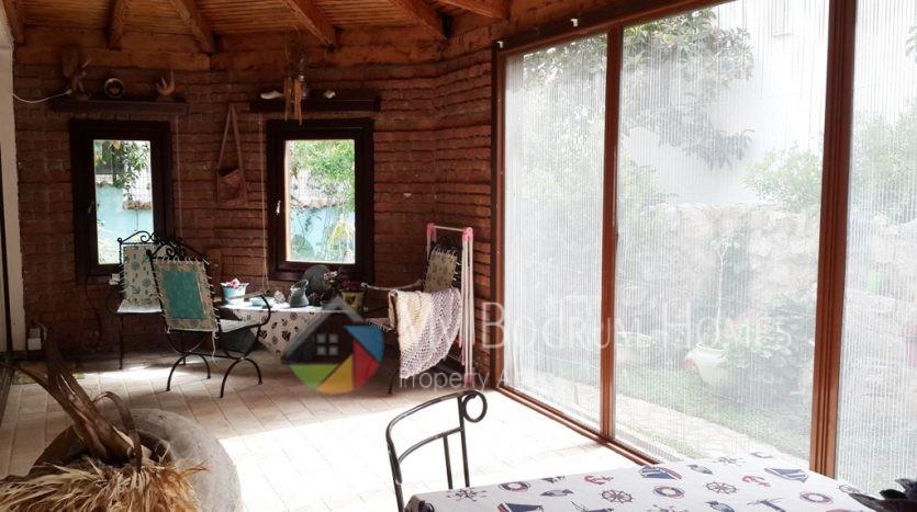 eşyalı bahçeli sezonluk kiralık bodrum