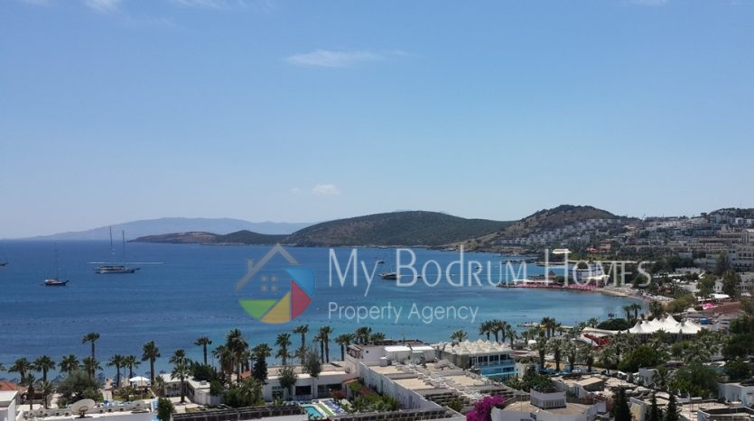Sea and Kos island view Apartment for Sale in Gumbet Bodrum