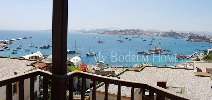 Perfect Sea View Apartment House For Sale in Bodrum Center