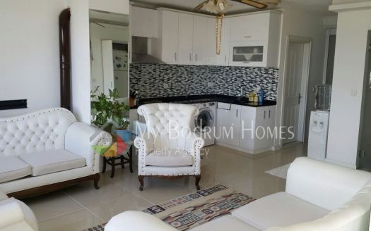 Sea View Duplex Apartment For Sale in Bodrum Center