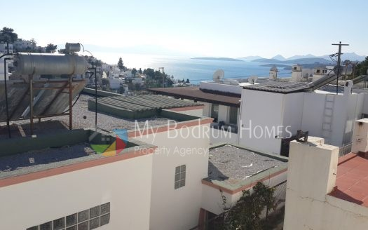 Sea View Detached Duplex Villa For Sale in Bodrum Center